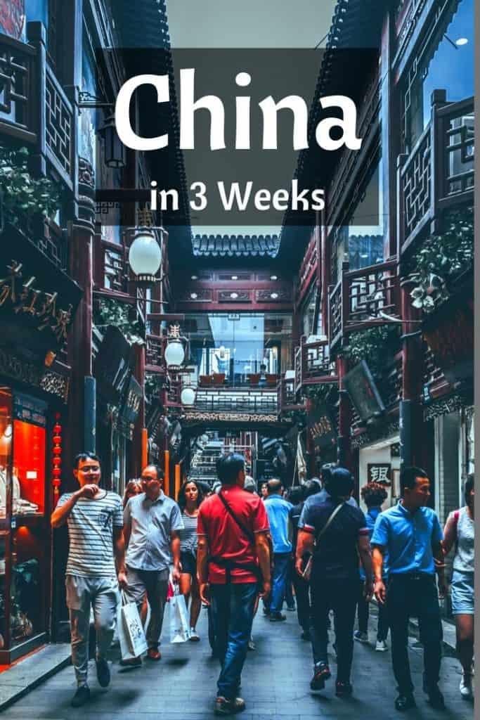 3 week trip to china schedule