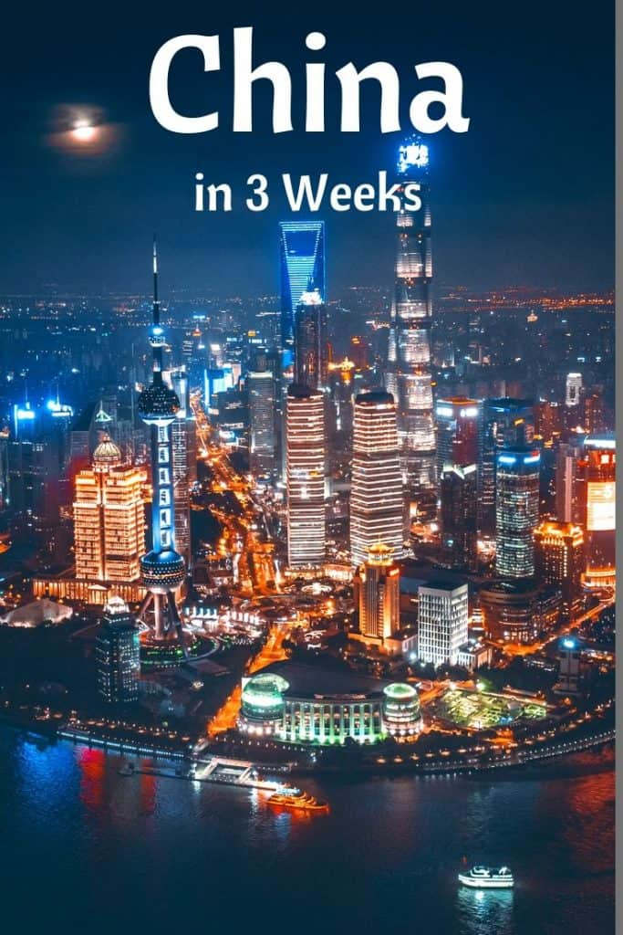 schedule for 3 week china trip