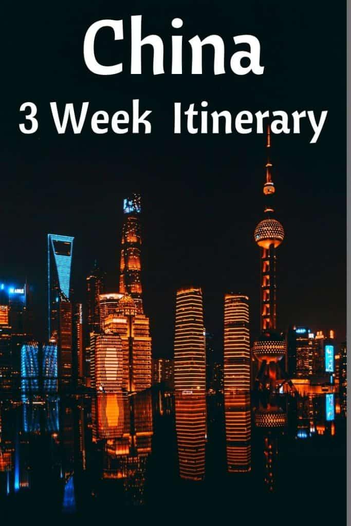 3 week China trip plan