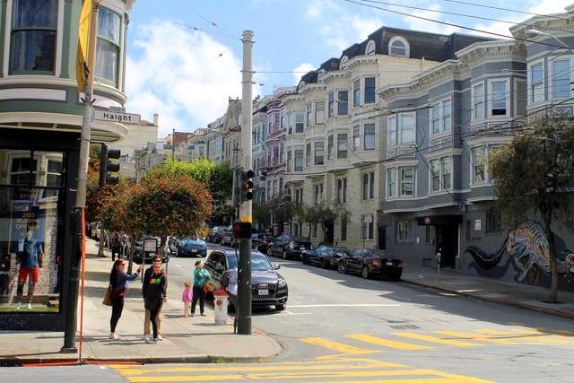 Haight-Ashbury Neighborhood in San Francisco, California