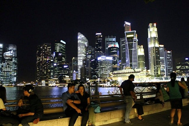 Marina Bay, Singapore at night