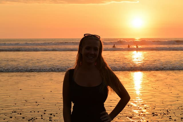Sunset at one of Jaco's beautiful beaches