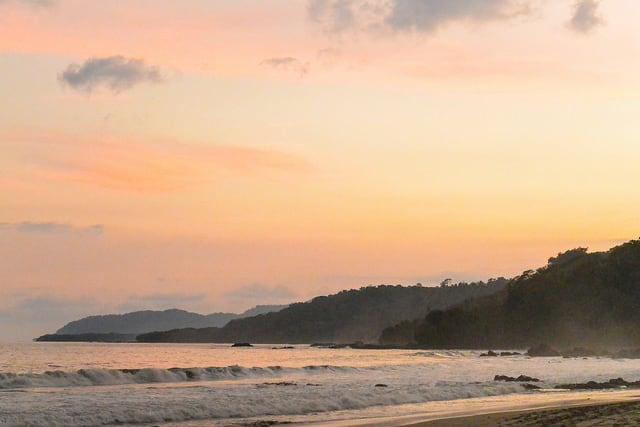 Montezuma's beach sunset is an absolute must-see
