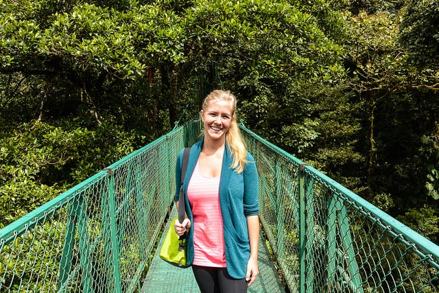Checking out the canopy from the hanging bridges