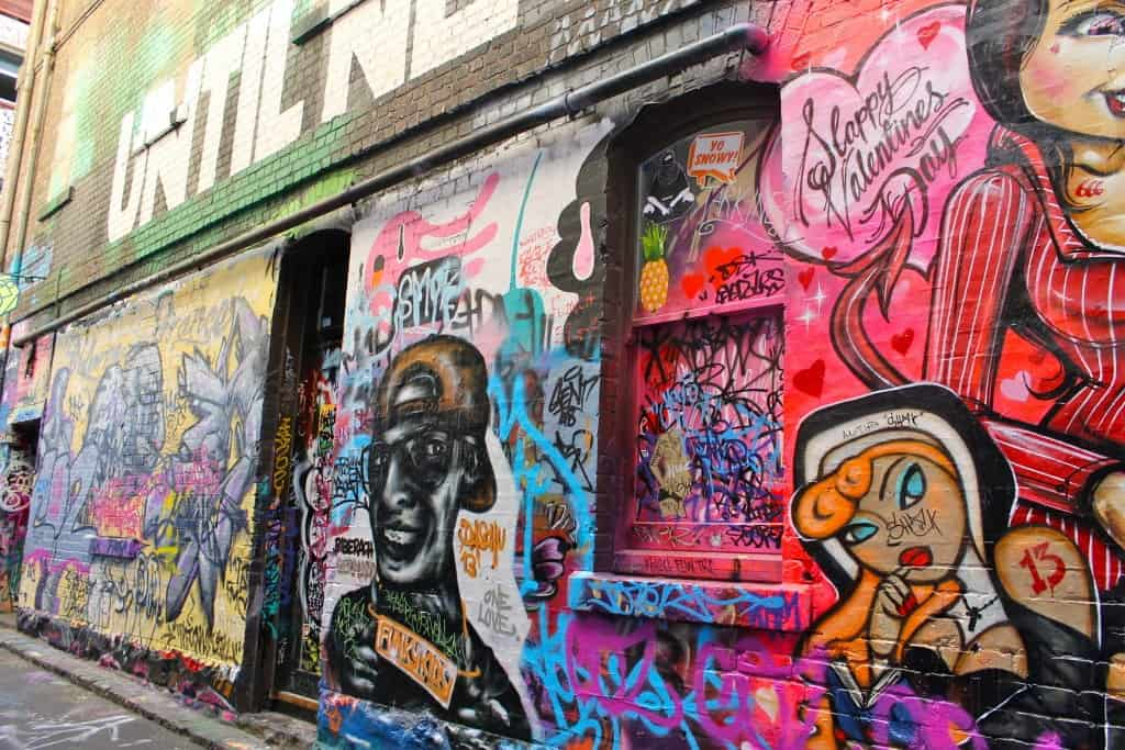 Melbourne street art - Hosier Lane