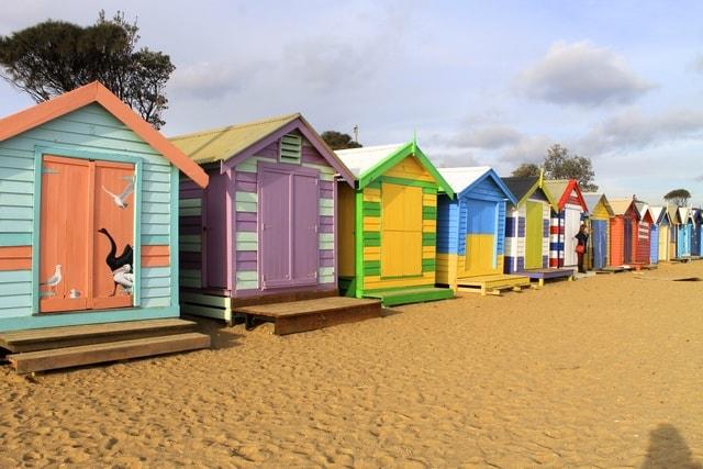 Brighton Bathing Boxes in Victoria, Australia