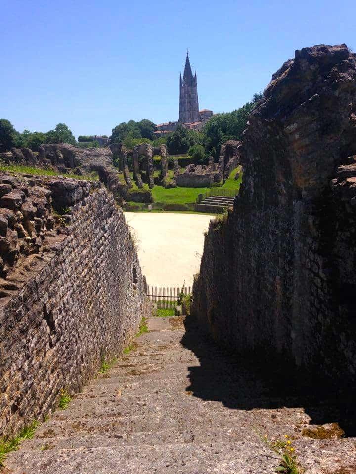 Ancient Roman Ampitheater in Saintes, France.