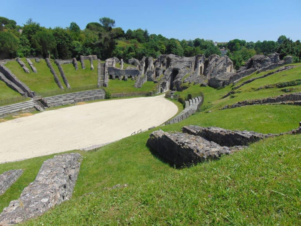 Ancient Roman Ampitheater in Saintes, France