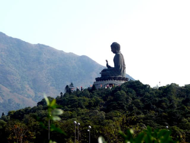 Buddha on Lantua Island in Hong Kong