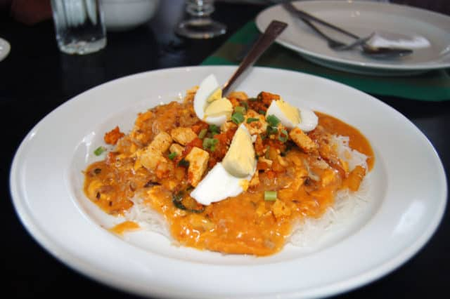 Pancit Palabok in the Philippines