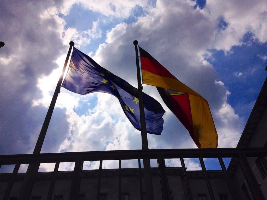 Flags in Berlin, Germany