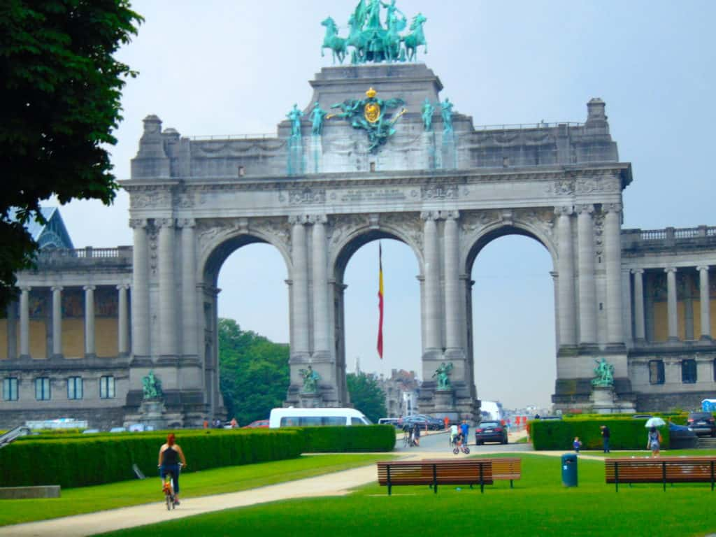 I rented this bike to ride around and explore Parc du Cinquantenaire.