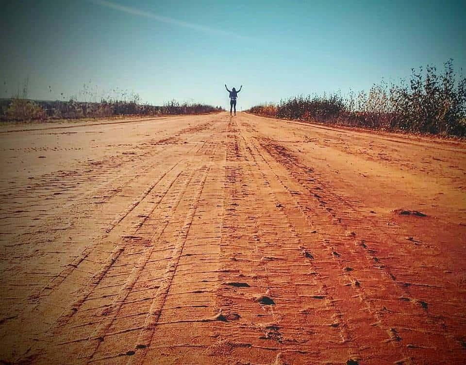 I love those red dirt roads!