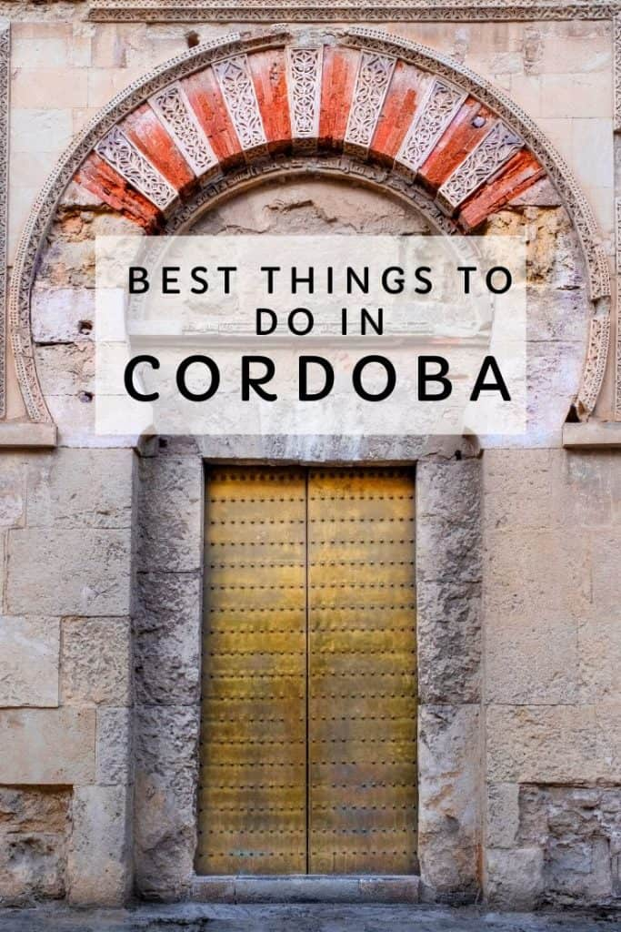 best things to do in cordoba, spain
