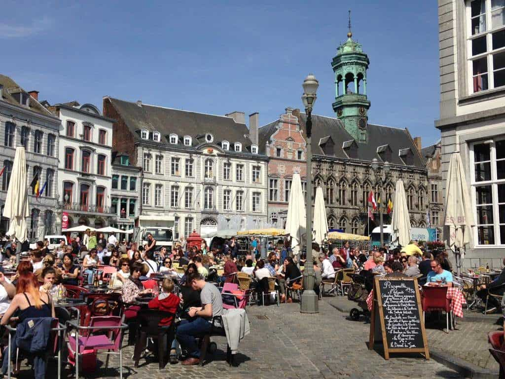 center of town, mons, belgium