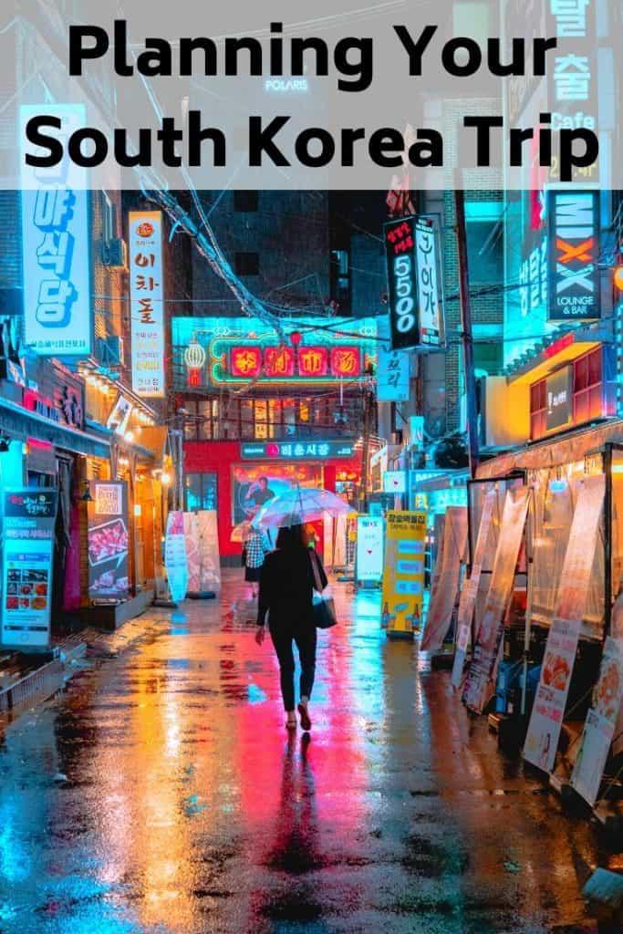 planning south korea trip