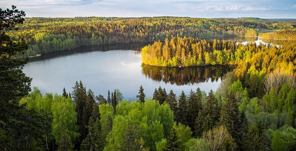 wonderful lakes of Finland