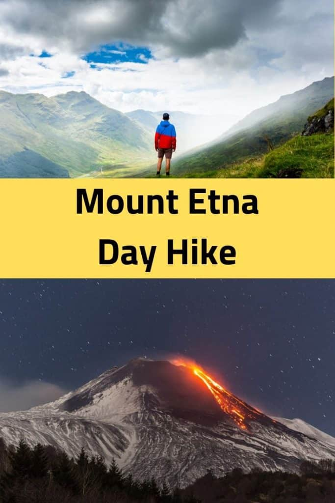 hiking in sicily, the mount etna trail