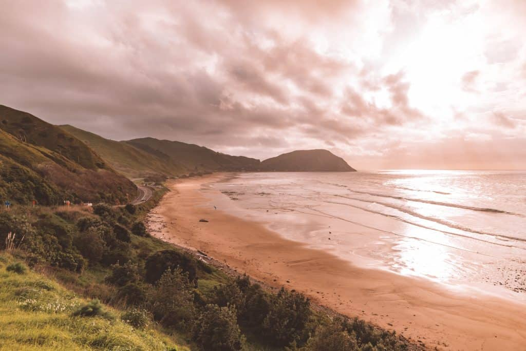 Makorori Beach for camping in new zealand