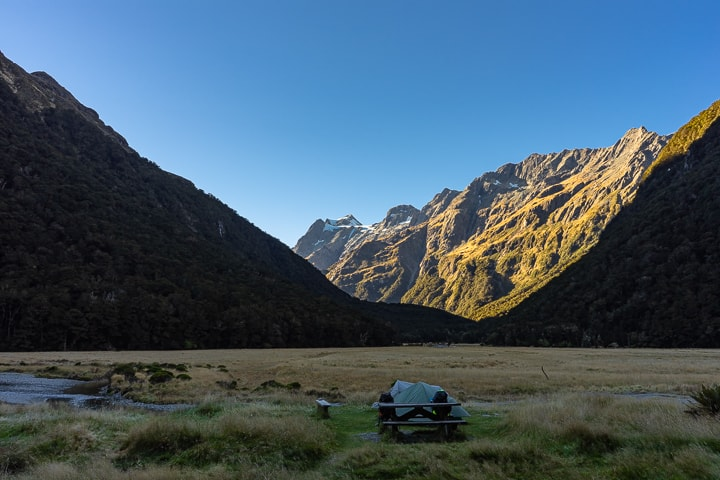 Best Camping and campervan Spots in New Zealand: Routeburn Flats