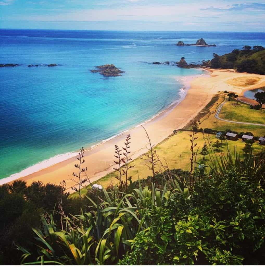 Elliot's Bay camping site in new zealand