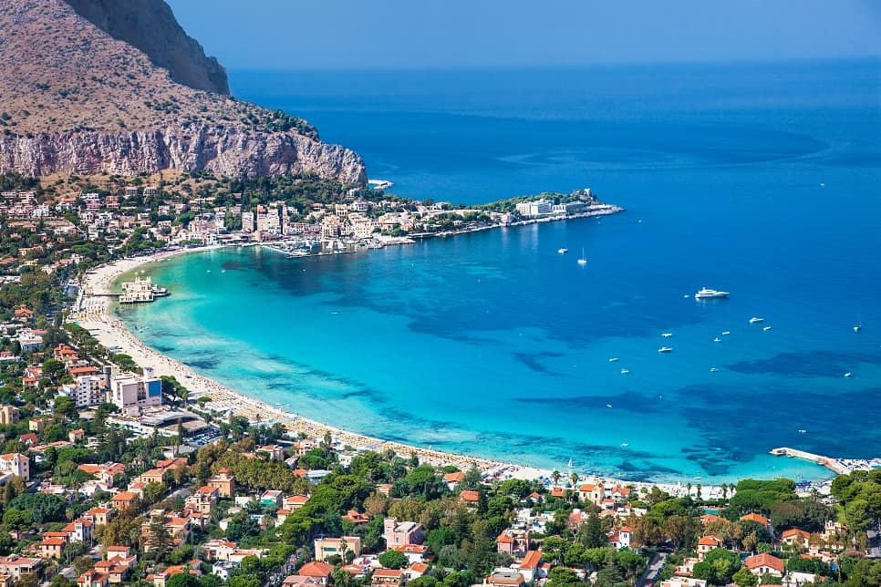 Best beaches in Sicily: Mondello Beach