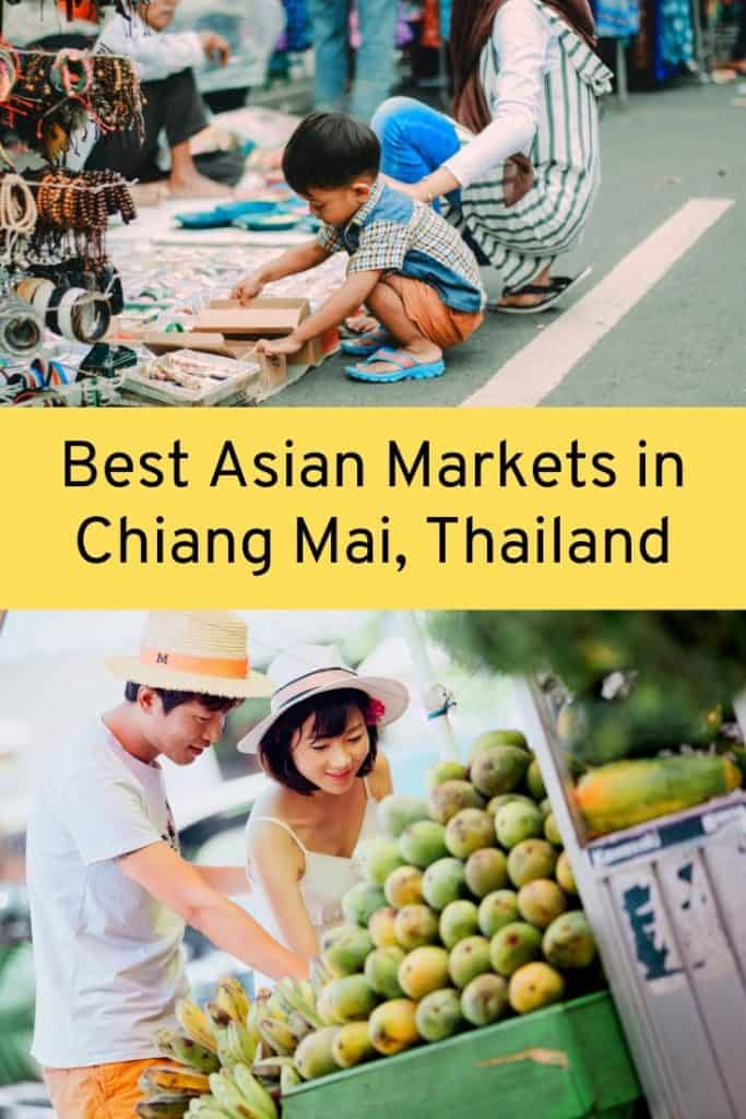 asian market in chiang mai, thailand