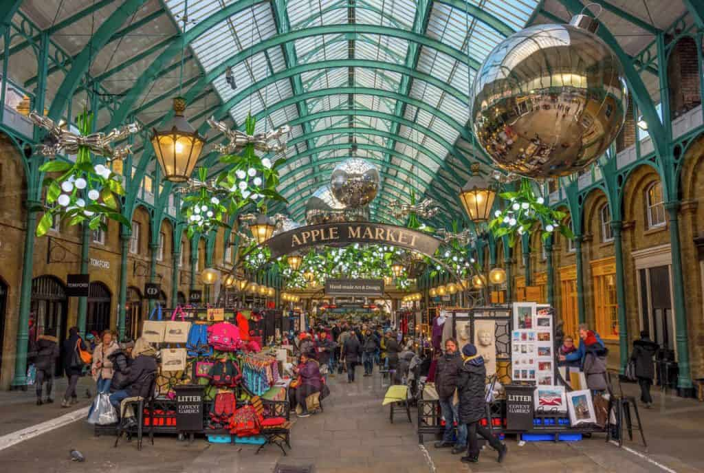 Covent Garden Market in center