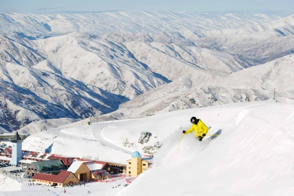 Cardrona ski resort in new zealand