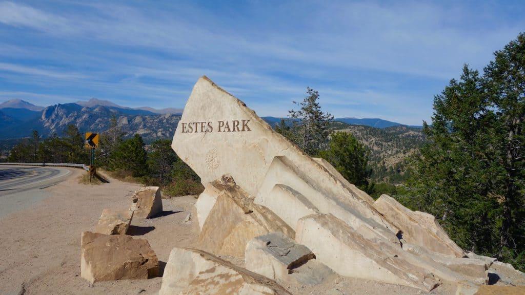 Estes Park, CO, Entrance Sign